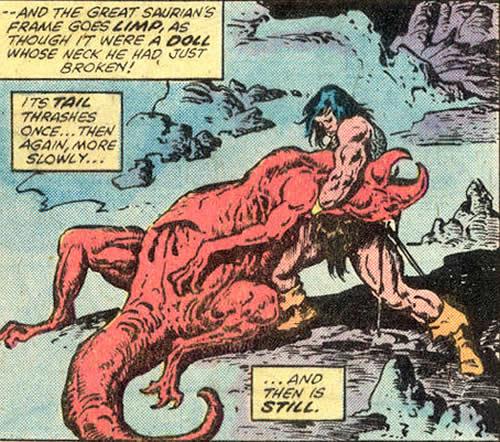 Conan peleando contra un dinosaurio! Conan-the-barbarian-12-d-conan